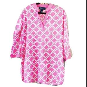 Cape Madras pink tunic swim cover up Made in Maine